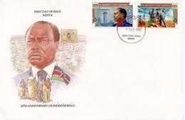 KENYA -  1983 20TH ANNIVERSARY OF INDEPENDENCE   FDC6 - Kenya (1963-...)