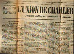 « L'union De CHARLEROI – Journal Politique, Industriel Et Agricole » N° 349 Du 19/12/1878 - Kranten