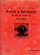 Poock & Herrmann, Ventilateurs Et Petits Moteurs électriques, 121 Rue De Flandre Bruxelles, Electricité - Electricity & Gas