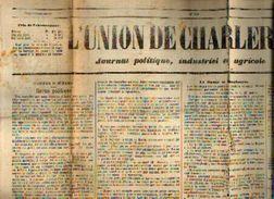 « L'union De CHARLEROI – Journal Politique, Industriel Et Agricole » N° 356 Du 22/12/1878 - Kranten