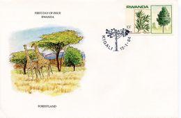 RWANDA -  1983 FORESTLAND   FDC11 - Rwanda