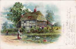 Maison De Campagne - Oblitérée HITZKIRCH Le 22.IX.1902, à Destination De LEIBSTADT - Folklore