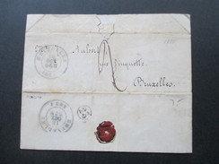 Belgien 1854 Ortsbrief Brüssel. Bruxelles. Altprüfzeichen / Signiert Klickow - Belgique