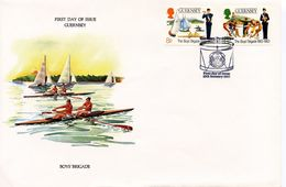 GUERNSEY -  1983 BOY'S BRIGADE SCOUTS   FDC32 - Guernsey