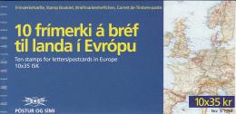 Iceland 1994 Booklet Of 10 Scott #780 35k St Brendan, Monks, Volcano EUROPA - Carnets