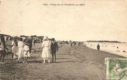 Cpa La Tranche Sur Mer Partie De Cricket Sur La Plage - Cricket