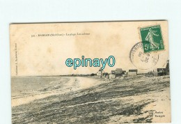 B - 56 - DAMGAN - La Plage - Les Cabines - AMBON - édition Dechelette - Damgan