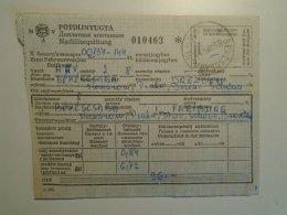 H5.1  MÁV - Railway  Ticket De Train - Pótdíjnyugta - Békéscsaba -Dresden 1985 - Unclassified