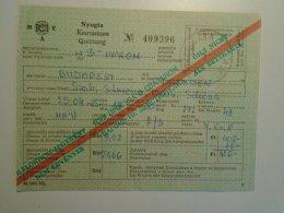 H5.2 MÁV - Railway  Ticket De Train - Nyugta - Békéscsaba -Dresden 1985 - Unclassified
