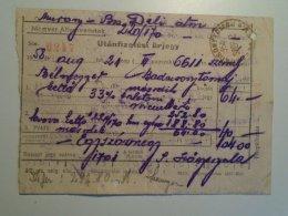 H5.4 MÁV - Railway  Ticket De Train - Utánfizetési ürjegy - Bélmegyer-Badacsonytomaj 1958 - Unclassified