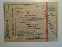 H5.8 MÁV - Railway  Ticket De Train - Hungary Budapest- Komárom (frontier)- 1960 - Transportation Tickets
