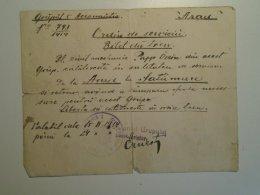 H5.12  WWI - Handwritten Return Train Ticket Arad-Satu Mare  Hungary/Military Romanian Occupation 1919  R A R E - Unclassified