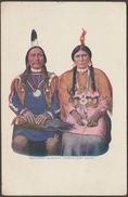 Chief Buckskin Charley And Squaw, C.1905 - HH Tammen Postcard - Native Americans