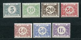 Belgien Porto Ex.Nr.22/33        *  Unused       (868) - Portomarken