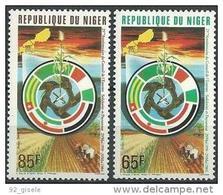 """Niger YT 648 Et 649 """" Conseil De L'Entente """" 1984 Neuf** - Níger (1960-...)"""