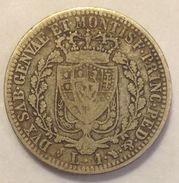 REGNO DI SARDEGNA  CARLO  FELICE  1  LIRA  1825   TORINO    MONETA  ORIGINALE IN  ARGENTO - Piemonte-Sardegna, Savoia Italiana