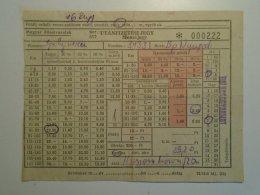 H6.2  Railway  Ticket De Train -Hungary IPOLYVECE-(Balassagyarmat) Budapest -Utánfizetési Jegy - Unclassified