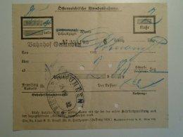 H6.6 Railway  Ticket De Train  -Austria GMUNDEN 1932 - Unclassified