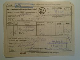 H6.7 Railway  Ticket De Train  -Austria -Schlafwagen- Wagons-Lits - W.L. -Wien -Budapest 1929 Barcelona Expo - Unclassified