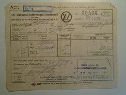 H6.7 Railway  Ticket De Train  -Austria -Schlafwagen- Wagons-Lits - W.L. -Wien -Budapest 1929 Barcelona Expo - Transportation Tickets