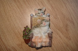 2 CHATONS EN FAIENCE - Cats