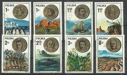 """Polen 2281-88 """"8 Briefmarken Mit Abbildungen Von Bedetenden Poln. Wissenschaftlern Und Forschern"""", Gestempelt Mi.:1,20 - 1944-.... République"""