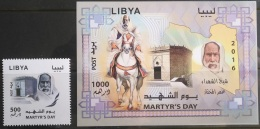 Libya 2016 NEW MNH Stamp + Minisheet - Martyr´s Day - Libya