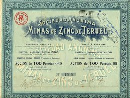 S. A. MINAS DE ZINC DE TERUEL 1906 - Mineral