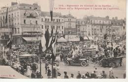 Le Mans-Souvenir Du Circuit De La Sarthe-La Place De La République à L'Heure De L'Apéritif.Edit.NG. - Le Mans
