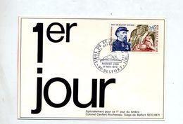 Carte Fdc 1970 Belfort Siege - 1970-1979