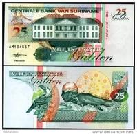 SURINAME 25 GULDEN 1998 P 138 UNC - Suriname