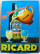 GLACOIDE RICARD CINQ VOLUMES D'EAU - Advertising (Porcelain) Signs