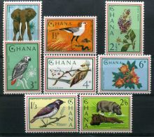 GHANA ( POSTE ) : Y&T N°  181/188  TIMBRES  NEUFS  SANS  TRACE  DE  CHARNIERE , A  VOIR . - Ghana (1957-...)