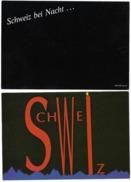 SUNSHINE CARDS Schweiz Bei Nacht FOTOGRAFIC COLLECTION SCHWEIZ CH 65 (11 X 16 Cm) 2 Karten - Cartes Postales