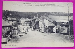 Cpa Gespunsart Usine Hercisse Rue Hélé Marlborough Sté Coopérative Fraternelle 08 Ardennes Proche Charleville Mézières - Ohne Zuordnung