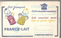 Buvard FRANCE-LAIT Lait Concentré Non Sucré Fabriqué à Saint Martin Belle Roche - Dairy
