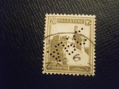 PALESTINE TIMBRE STAMP PERFORE PERFORES PERFIN PERFINS PERFO PERCE PERFORATION PERFORIERT LOCHUNG PERFORATI PERFORADO - Palestine