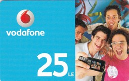 Lebanon, Vodafone, 25LE Recharge Card 2 Scans. - Libanon