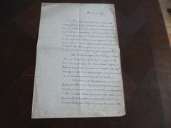 Alger 11/03/1851 LAS Autographe  Hugelman S'adresse Au Préfet Pour Permission D'éditer Sa Pièce écrite En Prison 23 X36 - Autografi