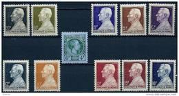 "Monaco YT 301 302 à 306 ""Journée Timbre, Prince Louis II "" 1948-49 Neuf** - Unused Stamps"