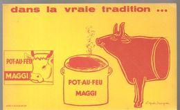 Buvard MAGGI POT AU FEU MAGGI Dans La Vraie Tradition - Potages & Sauces