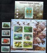 TANZANIA,2008, FISHES, MARINE PARKS, 4v+S/S+M/S, MNH** - Poissons