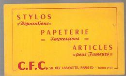 Buvard G.F.C. 58 Rue Lafayette PARIS Stylos Papeterie Articles Pour Fumeurs - Stationeries (flat Articles)