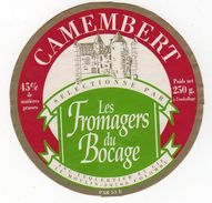 Nov17    50027    étiquette   Camembert  Les Fromage Du Bocage - Formaggio