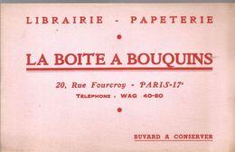Buvard LA BOITE A BOUQUINS Librairie - Papeterie 20,Rue Fourcroy PARIS 17 ème - Stationeries (flat Articles)