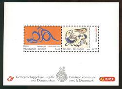 België Belgique Belgium 2006 - CoBra - Alechinski - Emission Commune Avec Le Danemark Denmark - Bloc Neuf - Blocs 1962-....