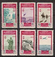 Marruecos 394/399 * Tuberculosos. 1954. Charnela - Spanish Morocco