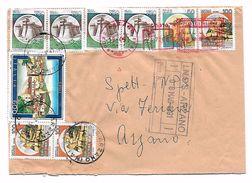 EDB140 - REPUBBLICA 1991 , Raccomandata 600 Lire Cagli + Castelli Vari - 6. 1946-.. Repubblica