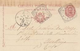Galatina. 1900. Annullo Tondo Riquadrato GALATINA (LECCE),  Su Cartolina Postale. - Marcofilie