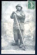 Cpa Du 80 Saint Valery Sur Somme -- Type Valericain -- Un Pêcheur Au Parc   SEP17-54 - Saint Valery Sur Somme